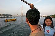 Chao Phraya river, Rama XIII Bridge.