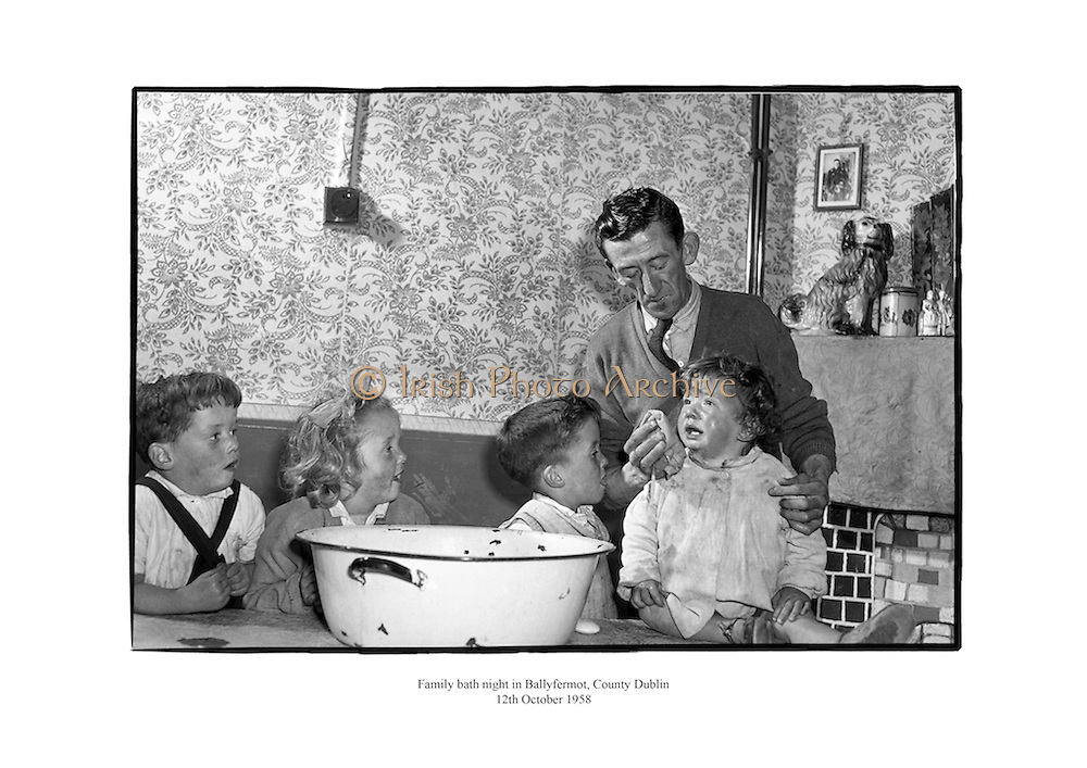 Family bath night in Ballyfermot, County Dublin.<br />