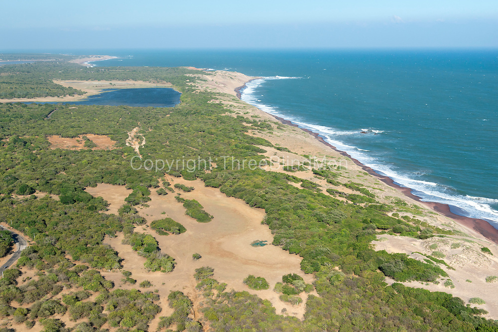 The Island from Above.<br /> TNear the Salt Pans at Hambantota. <br /> South East of the island.
