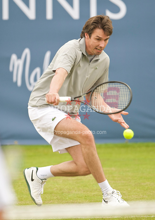 LIVERPOOL, ENGLAND - Thursday, June 18, 2009: Michael Stich (GER) during Day Two of the Tradition ICAP Liverpool International Tennis Tournament 2009 at Calderstones Park. (Pic by David Rawcliffe/Propaganda)