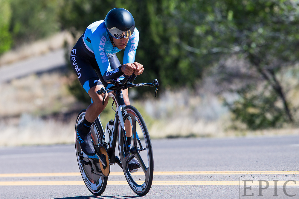SILVERY CITY, NM - APRIL 20: James Piccoli (Elevate-KHS Pro Cycling) during stage 3 of the Tour of The Gila on April 20, 2018 in Silver City, New Mexico. (Photo by Jonathan Devich/Epicimages.us)