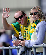 Hartlepool - Saturday August 29th, 2009: Norwich City fans during the Coca Cola League One match at Victoria Park, Hartlepool. (Pic by Jed Wee/Focus Images)..
