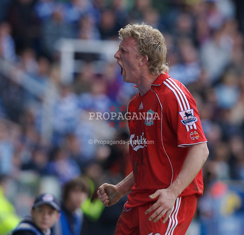 Reading, England - Saturday, April 7, 2007: Liverpool's Dirk Kuyt celebrates scoring the second goal to seal the victory over Reading during the Premier League match at the Madejski Stadium. (Pic by David Rawcliffe/Propaganda)
