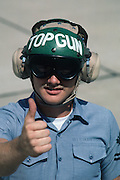 Thumbs up from TOPGUN F-5 plane captain