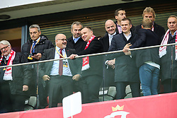 October 8, 2017 - Warsaw, Poland - Andrzej Duda, Gianni Infantino, Witold Banka, Zbigniew Boniek,  during Poland and Montenegro World Cup 2018 qualifier match in Warsaw, Poland, on 8 October 2017. POLAND won 4-2 and take on their World Cup 2018 qualifier. (Credit Image: © Foto Olimpik/NurPhoto via ZUMA Press)