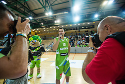 Mitja Nikolic of Slovenia during friendly basketball match between National teams of Slovenia and Ukraine at day 1 of Adecco Cup 2015, on August 21 in Koper, Slovenia. Photo by Grega Valancic / Sportida
