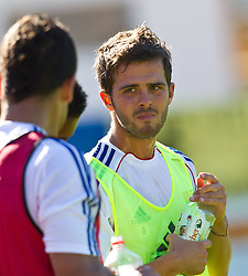 04.07.2011, Alois Latini Stadion, Zell am See, AUT, Olympique Lyon, Training, im Bild Miralem Pjanic, Olympique Lyon // during a training session of AUT, Olympique Lyon, in Zell am See, Austria on 2011/07/04, EXPA Pictures © 2011, PhotoCredit: EXPA/ J. Feichter