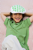 Boy Wearing Newsboy Cap