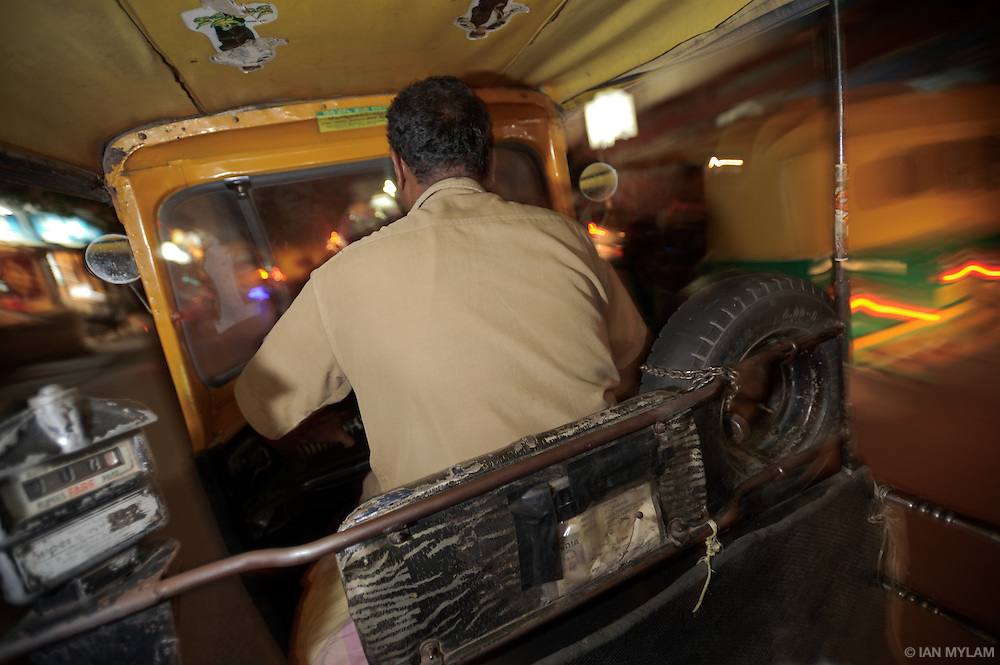 Night Ride in an Auto-Rickshaw - Bangalore, India