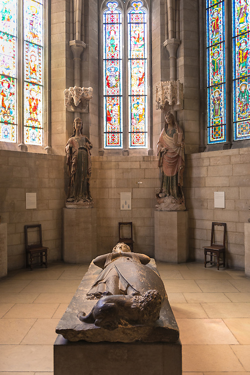 Interior of The Cloisters museum in Upper Manhattan