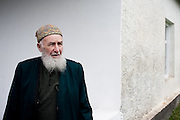 The local Sufi Mullah outside the Duisi village Mosque. While the Wahhabist form of radical Islam has been growing in popularity in Caucasus since the Chechen wars, the majority of the local population in the Pankisi Valley continue to follow more liberal Shafi'i and Sufi school's of Islam.