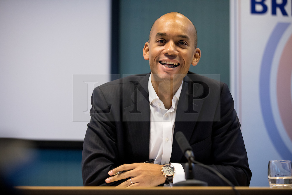 © Licensed to London News Pictures. 28/11/2016. London, UK. Labour MP Chukka Umunna speaks at the 'Open Britain' event, a cross-party campaign arguing for continued membership of the single market, following Britain's decision to leave the EU. Photo credit : Tom Nicholson/LNP