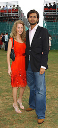STEVE WOOD and AYESHA MAKIM niece of Sarah, Duchess of York at the 2005 Cartier International Polo between England & Australia held at Guards Polo Club, Smith's Lawn, Windsor Great Park, Berkshire on 24th July 2005.<br /><br />NON EXCLUSIVE - WORLD RIGHTS
