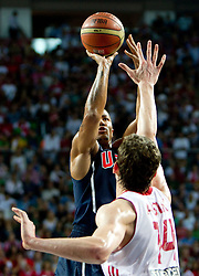 Derrick Rose of USA during the finals basketball match between National teams of Turkey and USA at 2010 FIBA World Championships on September 12, 2010 at the Sinan Erdem Dome in Istanbul, Turkey.   (Photo By Vid Ponikvar / Sportida.com)
