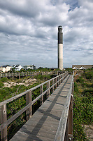 NC00558-00...NORTH CAROLINA - Oak Island Lighthouse at Caswell Beach near the mouth of the Cape Fear River.