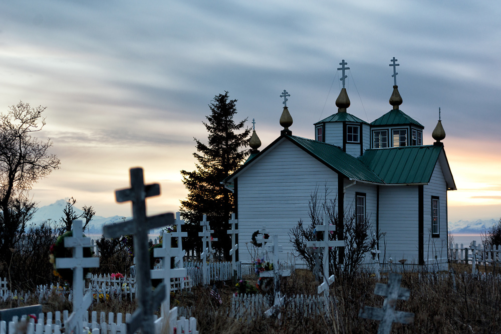 The Russian Orthodox Church in Ninilchik on the Kenai Peninsula, Alaska.