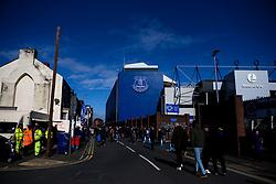 Fans arrive at Goodison Park for Everton v Manchester United in the Premier League - Mandatory by-line: Robbie Stephenson/JMP - 01/03/2020 - FOOTBALL - Goodison Park - Liverpool, England - Everton v Manchester United - Premier League