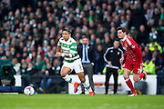 Celtic defender Emilio Izaguirre (#3) runs beyonds Aberdeen midfielder Kenny McLean (#7) during the Scottish Cup final match between Aberdeen and Celtic at Hampden Park, Glasgow, United Kingdom on 27 November 2016. Photo by Craig Doyle.
