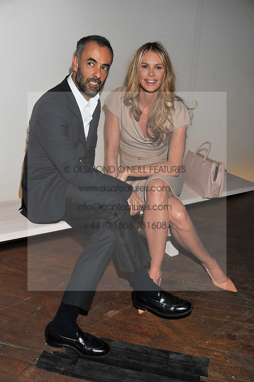 FRANCISCO COSTA and ELLE MACPHERSON at a dinner hosted by Calvin Klein Collection to celebrate the future Home of The Design Museum at The Commonwealth Institute, Kensington, London on 13th October 2011.