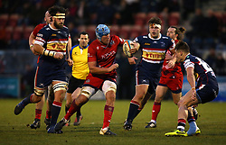 Jordan Crane of Bristol Rugby runs with the ball - Mandatory by-line: Robbie Stephenson/JMP - 13/01/2018 - RUGBY - Castle Park - Doncaster, England - Doncaster Knights v Bristol Rugby - B&I Cup