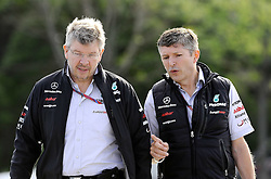 10.06.2011, Circuit Gilles Villeneuve, Montreal, CAN, Großer Preis von Kanada / Montreal, RACE 07, im Bild  Ross Brawn (GBR) Team Owner, Brawn GP F1 Team - Nick Fry (GBR), Honda Racing F1 Team, Chief Executive Officer    EXPA Pictures © 2011, PhotoCredit: EXPA/ nph/  Dieter Mathis        ****** only for AUT, POL & SLO ******