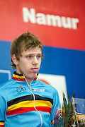 BELGIUM / NAMEN / NAMUR / CYCLING / WIELRENNEN / CYCLISME / CYCLOCROSS / CYCLO-CROSS / VELDRIJDEN / WERELDBEKER / WORLD CUP / COUPE DU MONDE / JUNIORS / PODIUM / CELEBRATION / HULDIGING / YANNICK PEETERS (BEL) /