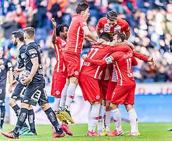 08.03.2020, Red Bull Arena, Salzburg, AUT, 1. FBL, FC Red Bull Salzburg vs SK Puntigamer Sturm Graz, 22. Runde, im Bild Torjubel FC Red Bull Salzburg zum 1:0 durch Masaya Okugawa (FC Red Bull Salzburg) // during the tipico Bundesliga 22th round match between FC Red Bull Salzburg and SK Puntigamer Sturm Graz at the Red Bull Arena in Salzburg, Austria on 2020/03/08. EXPA Pictures © 2020, PhotoCredit: EXPA/ Stefan Adelsberger