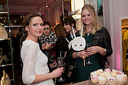 CATHERINE CHENERY; EMILY O'BRIEN, Juicy Couture and Fifi Lapin - masquerade Ball<br /> Juicy Couture, 27 Bruton Street, London,  7 March 2012