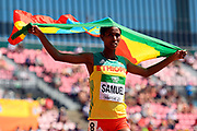 Alemaz Samuel (ETH) wins the Gold Medal in 1500 Metres Women during the IAAF World U20 Championships 2018 at Tampere in Finland, Day 6, on July 15, 2018 - Photo Julien Crosnier / KMSP / ProSportsImages / DPPI