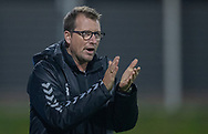 Cheftræner Allan Ravn (Frem) under kampen i 2. Division mellem FC Helsingør og Boldklubben Frem den 27. september 2019 på Helsingør Ny Stadion (Foto: Claus Birch).
