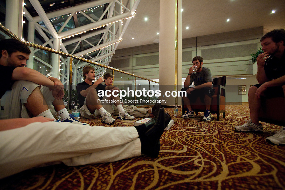 21 May 2009: Duke Blue Devils during a team meeting at the Marriott Hotel in Boston, MA