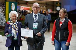 Bastian Inge, Bastian Günter, Werth Isabel<br /> WBFSH Prize Giving<br /> CHI de Genève 2017<br /> © Hippo Foto - Dirk Caremans<br /> 09/12/2017