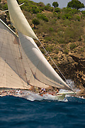 12 Meter Class Kate at the Antigua Classic Yacht Regatta