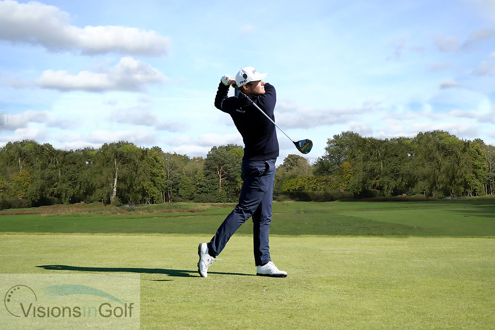 Tyrrell Hatton<br /> High speed swing sequence<br /> Driver<br /> Face on<br /> <br /> Golf Pictures Credit by: Mark Newcombe / visionsingolf.com