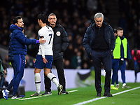 Football - 2019 / 2020 Premier League - Tottenham Hotspur vs. Chelsea<br /> <br /> Tottenham Hotspur Head Coach Jose Mourinho dejected as Son Heung-Min is red carded by Referee Anthony Taylor, at The Tottenham Hotspur Stadium.<br /> <br /> COLORSPORT/ASHLEY WESTERN