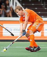AMSTELVEEN - Neth. -  Constantijn Jonker  tijdens de interland wedstrijd tussen de mannen van Nederland en Frankrijk (8-1), ter voorbereiding van het EK . COPYRIGHT KOEN SUYK