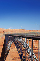 Bridge spanning canyon USA