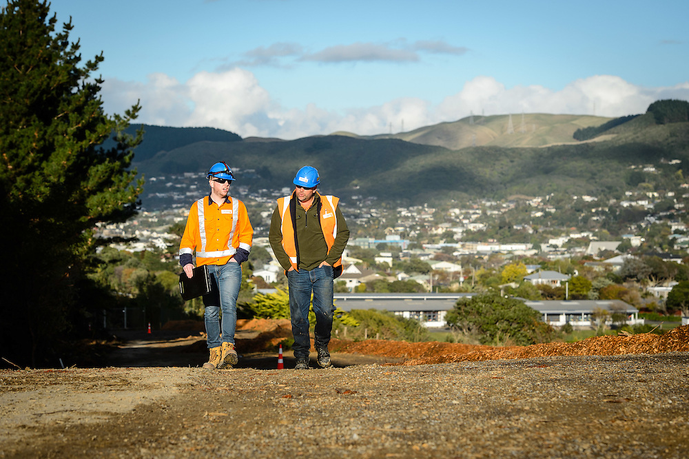 WELLINGTON, NEW ZEALAND - June 03: Transmission Gully project updates June 03, 2016 in Wellington, New Zealand.  CPB HEB Joint Venture.  (Photo by Mark Tantrum/ mark tantrum.com)