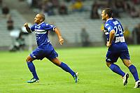 FOOTBALL - FRENCH CHAMPIONSHIP 2011/2012 - L2 - FC NANTES v SC BASTIA - 05/08/2011 - PHOTO PASCAL ALLEE / DPPI - JOY WAHBI KHAZRI (BAS) AFTER HIS GOAL