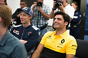 October 19-22, 2017: United States Grand Prix. Carlos Sainz Jr. (SPA) Renault Sport Formula One Team, R.S. 17, Brendon Hartley (NZ), Scuderia Toro Rosso, STR12