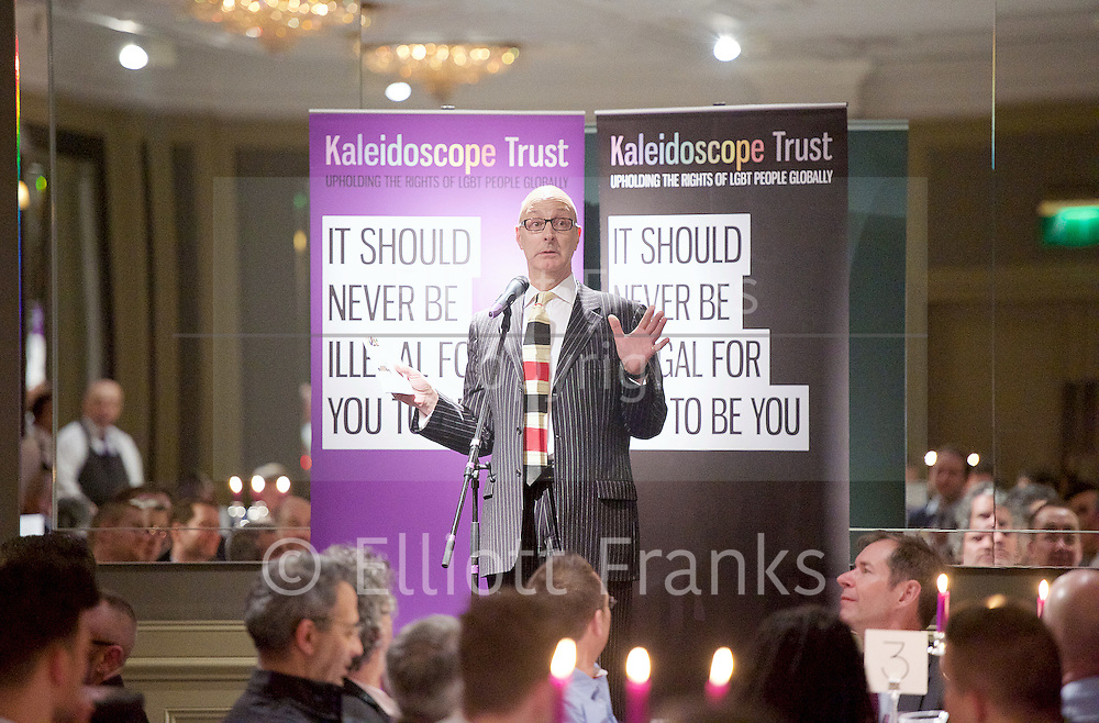 The Kaleidoscope Trust Annual Gala Dinner <br /> 28th January 2016 <br /> Hyatt Regency London - The Churchill<br /> 30 Portman Square<br /> London W1H 7BH<br /> <br /> contact:<br /> <br /> The Kaleidoscope Trust<br /> The Print House Studio<br /> 18 Ashwin Street<br /> London E8 3DL<br /> +44 (0)20 8133 6460<br /> <br /> <br /> speeches by:<br /> <br /> Rosanna Flamer-Caldera executive director<br /> Equal Ground<br /> <br /> John Bercow MP<br /> Speaker of the House of Commons and President of Kaleidoscope Trust <br /> <br /> Simon Fanshawe <br /> Auctioneer and Master of Ceremony<br /> <br /> Dan Gillespie Sells - performance <br /> <br /> VIP guests include Sir Ian McKellen, David Ames, Christopher Biggins, Chris Bryant MP, Margot James MP, Baroness Lynne Featherstone, Nick Herbert MP.<br /> <br /> Photograph by Elliott Franks
