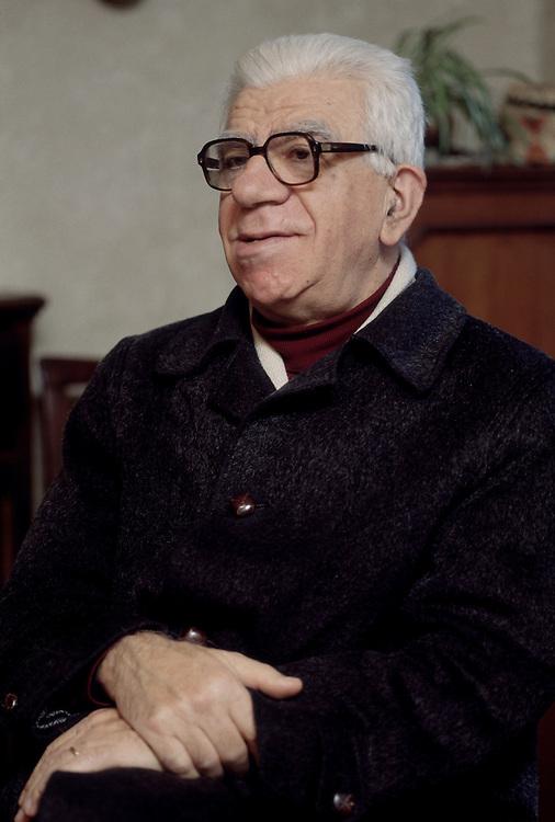 17 JAN 1996 - Udine - Carlo Sgorlon, scrittore :-: Italian writer Carlo Sgorlon