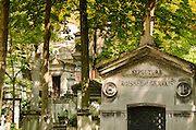 Graves at Père Lachaise Cemetery, Paris, France