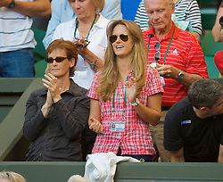 LONDON, ENGLAND - Tuesday, June 23, 2009: Andy Murray's mother Judith and girlfriend Kim Sears cheer after his Gentlemen's Singles 1st Round victory on day two of the Wimbledon Lawn Tennis Championships at the All England Lawn Tennis and Croquet Club. (Pic by David Rawcliffe/Propaganda)