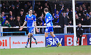 Peter Vincenti Goal Celebrations during the Sky Bet League 1 match between Rochdale and Sheffield Utd at Spotland, Rochdale, England on 27 February 2016. Photo by Daniel Youngs.