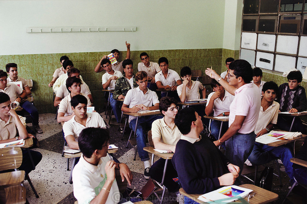 Lasalle High School class in Caracas, Venezuela.