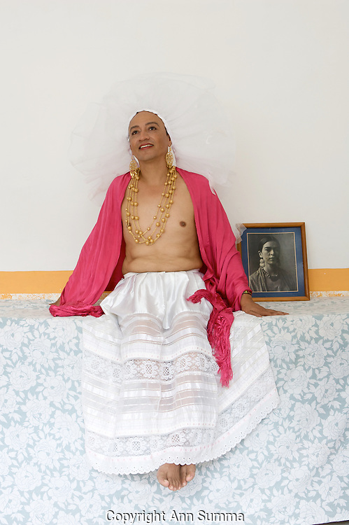 """Kike is a """"Muxe,"""" or 3rd gender in Juchitan, Oaxaca. The Isthmus region is known for its matriarchal society and tolerance."""