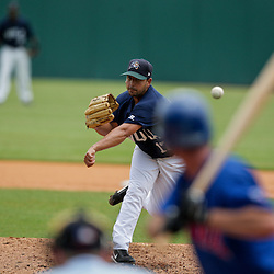 2009 July 07: Zephyrs pitcher, Willie Collazo (17) throws during a AAA Minor League Baseball game between the New Orleans Zephyrs AAA affiliate for the Florida Marlins and the Iowa Cubs a AAA affiliate for the Chicago Cubs  at Zephyrs Stadium in Metairie, Louisiana.