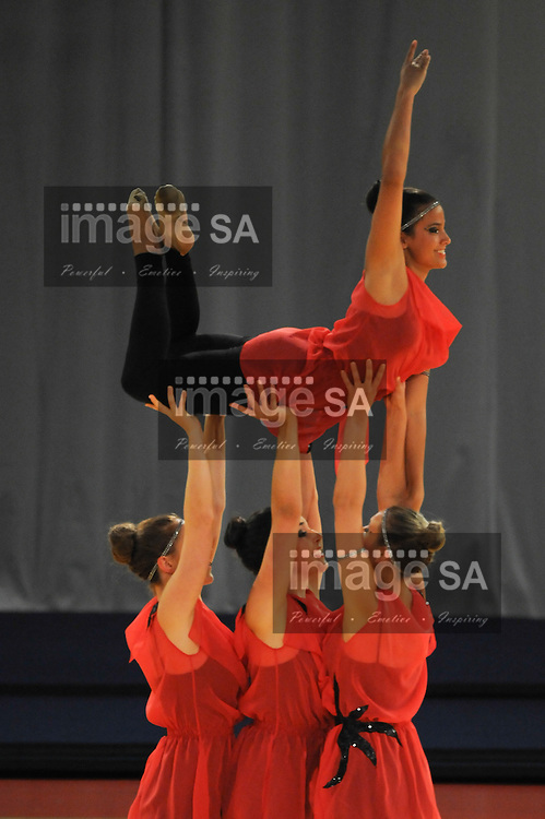 CAPE TOWN, SOUTH AFRICA - Friday 12 July 2013, Turnerschaft Roethis from Austria perform during the FIG (Federation Internationale De Gymnastique) 2nd World Gym for Life Challenge being held at the CTICC (Cape Town International Convention Centre). The event is from 11-13 July.<br /> Photo by Roger Sedres/ImageSA