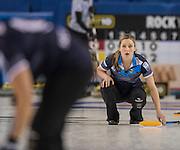 "Glasgow. SCOTLAND.  Scotland""s Lauren GRAY track's the path ohr ""Stone"", during  the ""Round Robin"" Game.  Scotland vs Russia,  Le Gruyère European Curling Championships. 2016 Venue, Braehead  Scotland<br /> Thursday  24/11/2016<br /> <br /> [Mandatory Credit; Peter Spurrier/Intersport-images]"